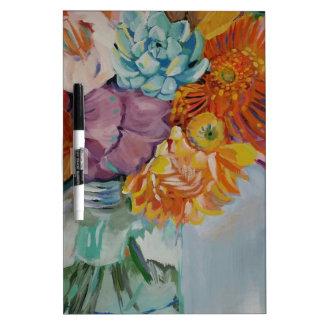 Vibrant flowers Dry-Erase board