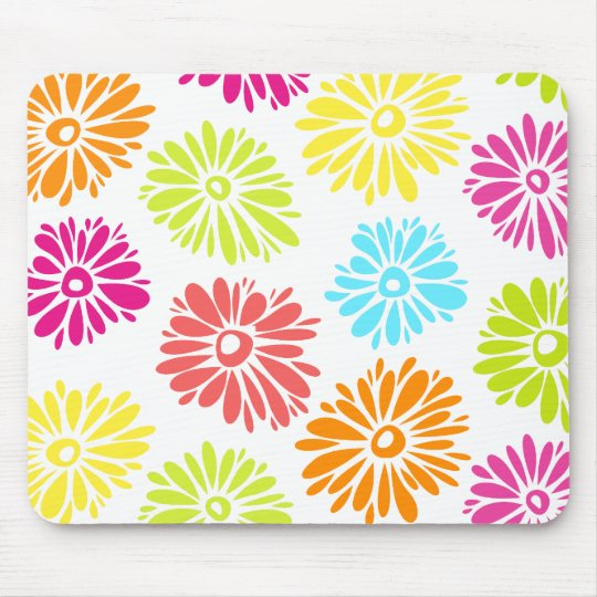 Vibrant Flowers Mousepad