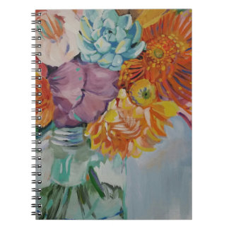 Vibrant flowers notebook