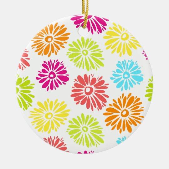 Vibrant Flowers Ornament
