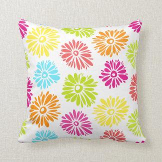 Vibrant Flowers Pillow