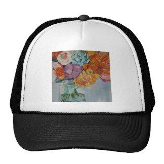 Vibrant flowers trucker hat