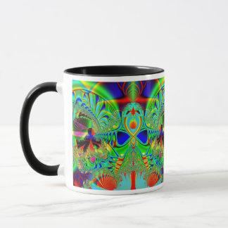 Vibrant Fractal design Mug
