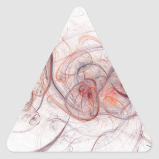 Vibrant Fractal Triangle Sticker