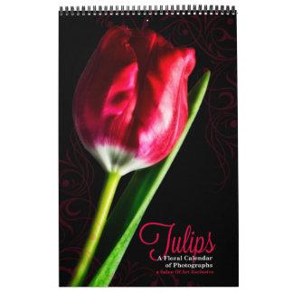 Vibrant Full Length Tulip Garden Calendar Custom