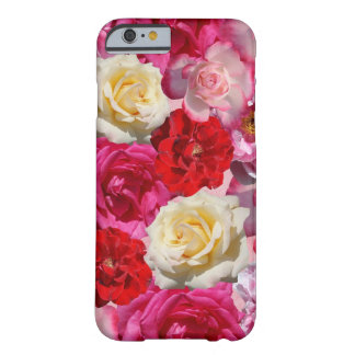 Vibrant Garden Roses Design Barely There iPhone 6 Case