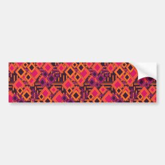 Vibrant Geometric Diamond Pattern Bumper Sticker
