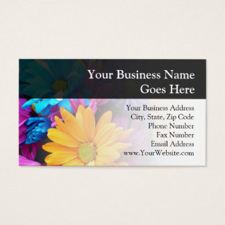 Vibrant Gerbera Daisy Bouquet Business Card