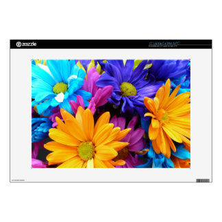 Vibrant Gerbera Daisy Bouquet Decals For Laptops