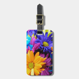 Vibrant Gerbera Daisy Bouquet Tags For Luggage