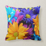 Vibrant Gerbera Daisy Bouquet Throw Pillow