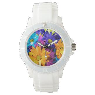 Vibrant Gerbera Daisy Bouquet Wrist Watch