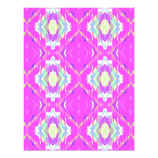 Vibrant Girly Hot Neon Pastel Pink Letterhead