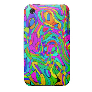 Vibrant Graphic Squiggles Asst Colors iPhone 3 Case-Mate Case