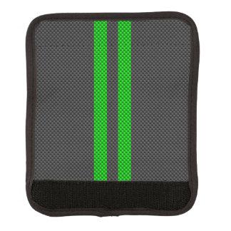 Vibrant Green Carbon Fiber Style Racing Stripes Handle Wrap