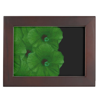 Vibrant Green Flowers Memory Box