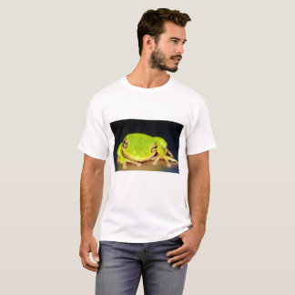 Vibrant Green Frog Save the Rainforest T-Shirt