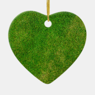 Vibrant Green Grass Ceramic Ornament