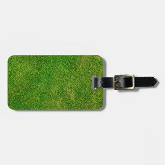 Vibrant Green Grass Bag Tag