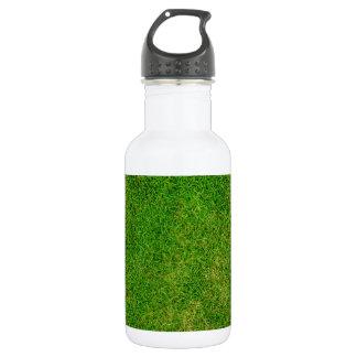 Vibrant Green Grass 18oz Water Bottle