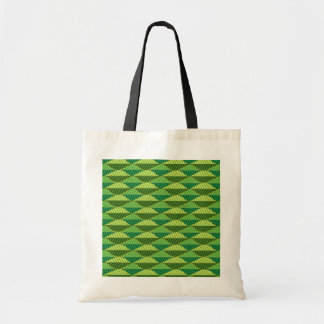 Vibrant Green Leaves Pattern Tote Bags