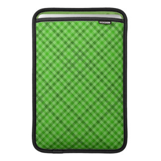Vibrant Green Plaid - Custom MacBook Air Sleeve