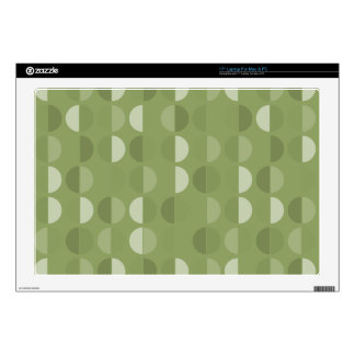 """Vibrant Green Shades Polka Dot Seamless Pattern Decals For 17"""" Laptops"""