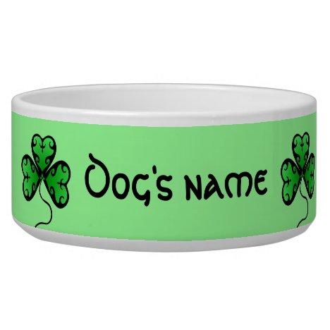 Vibrant green shamrocks bowl