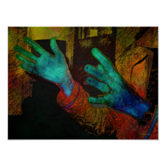 Vibrant Hands Poster