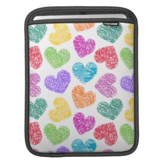 Vibrant hearts iPad Sleeve