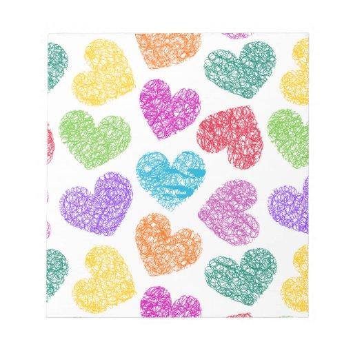 Vibrant hearts Notepad