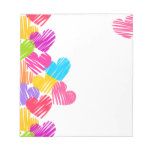 Vibrant hearts Notepad