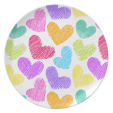 Vibrant hearts Plate