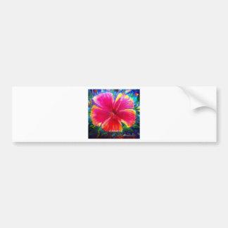 Vibrant Hibiscus Flower Bumper Sticker