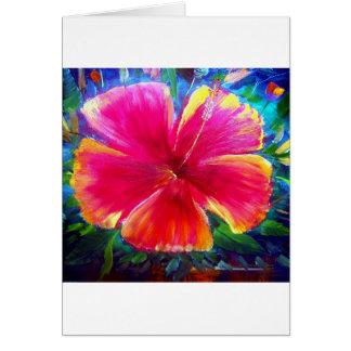 Vibrant Hibiscus Flower Card