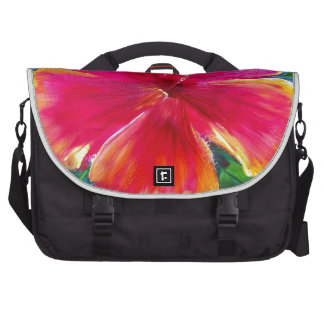 Vibrant Hibiscus Flower Computer Bag