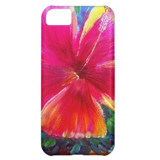 Vibrant Hibiscus Flower iPhone 5C Cases