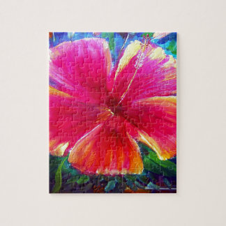 Vibrant Hibiscus Flower Jigsaw Puzzles