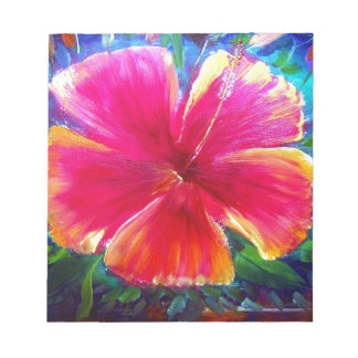 Vibrant Hibiscus Flower Notepads