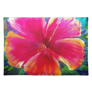 Vibrant Hibiscus Flower Placemats