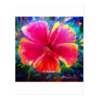 Vibrant Hibiscus Flower Postcard