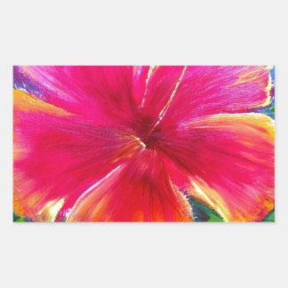 Vibrant Hibiscus Flower Sticker