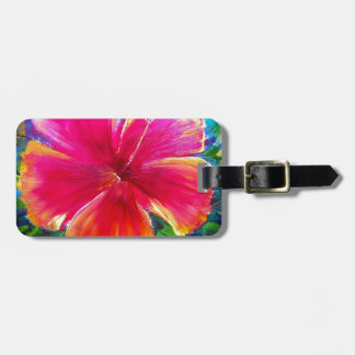 Vibrant Hibiscus Flower Tag For Bags