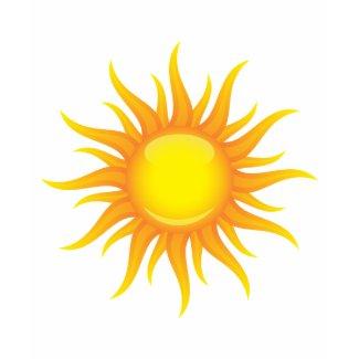Vibrant hot sun ladies t-shirt