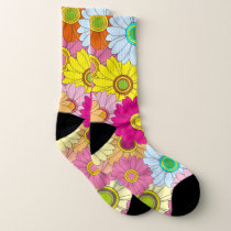 Vibrant illustrated Floral Pattern Socks