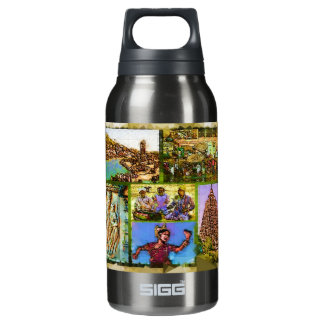 Vibrant India Liberty Bottle 10 Oz Insulated SIGG Thermos Water Bottle