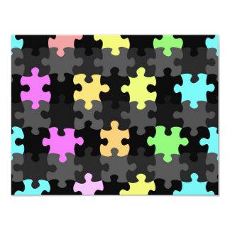 vibrant jigsaw pieces pattern card