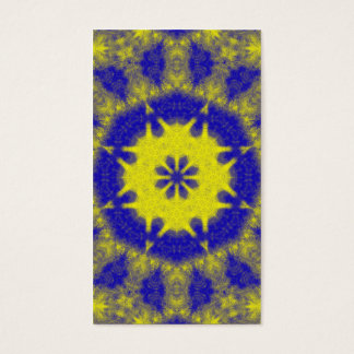 Vibrant kaleidoscope blue and yellow Business Card