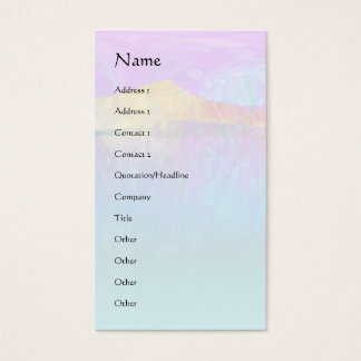 Vibrant Lake Abstract Business Card
