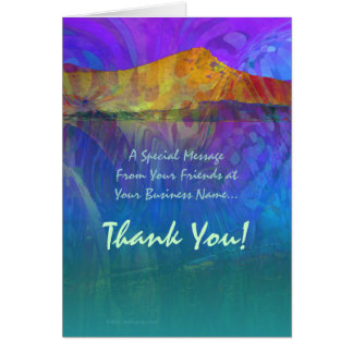 Vibrant Lake Abstract Card